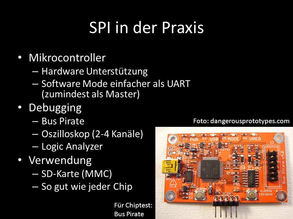 SPI in der Praxis Mikrocontroller Debugging Verwendung