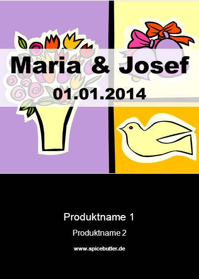 Maria & Josef 01.01.2014 Produktname 1 Produktname 2