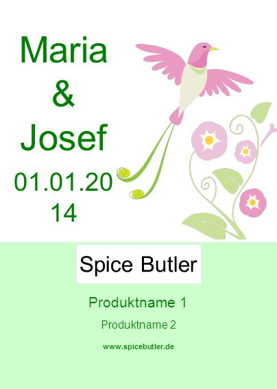 Maria & Josef 01.01.20 14 Spice Butler Produktname 1 Produktname 2