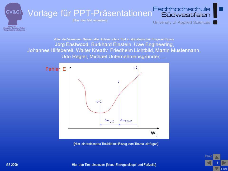 Vorlage für PPT-Präsentationen {Hier den Titel einsetzen}