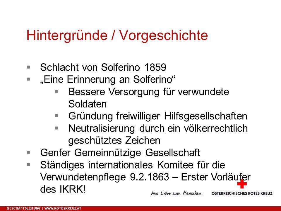 Hintergründe / Vorgeschichte