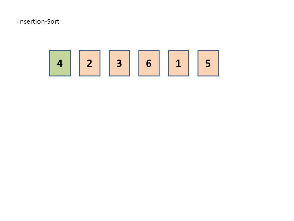 Insertion-Sort 4 2 3 6 1 5