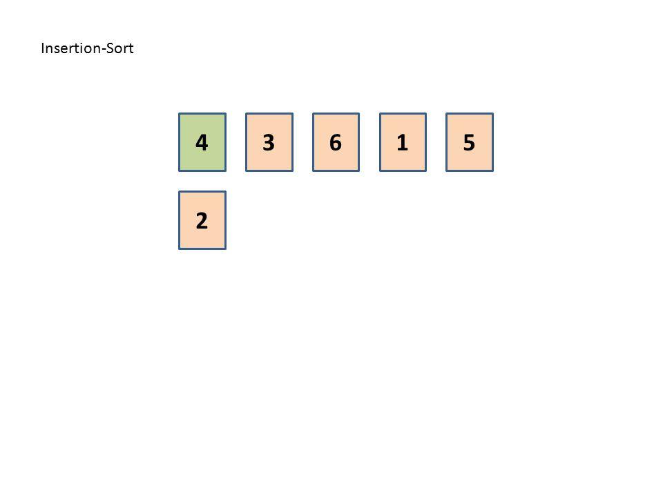 Insertion-Sort 4 3 6 1 5 2
