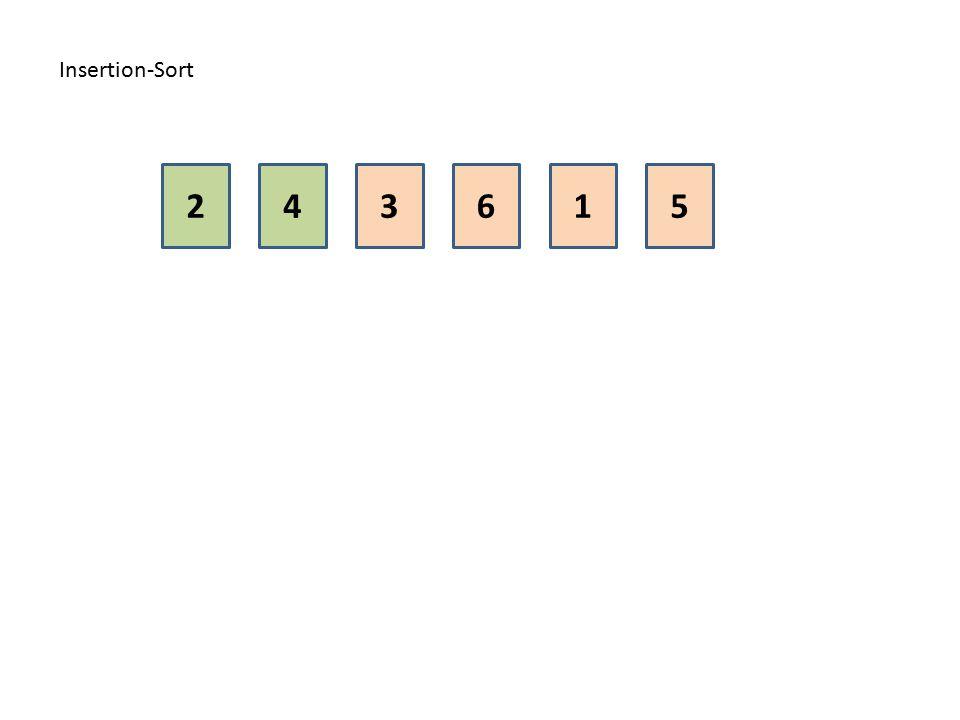 Insertion-Sort 2 4 3 6 1 5