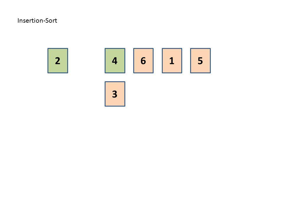 Insertion-Sort 2 4 6 1 5 3