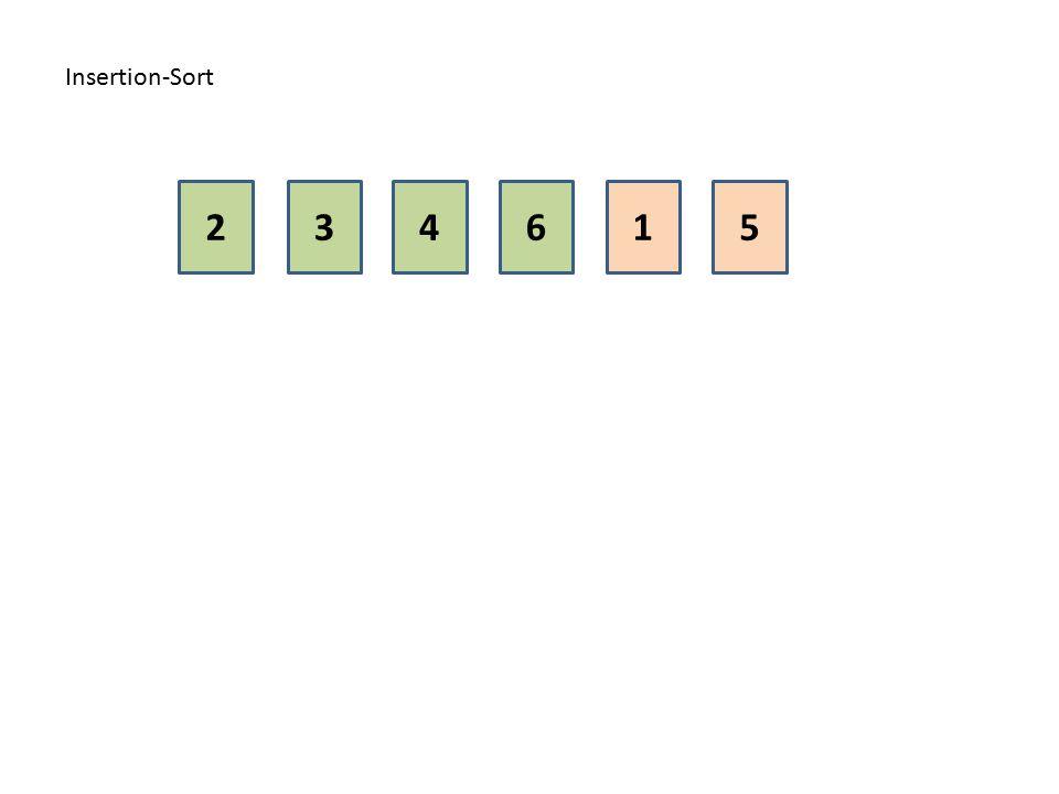Insertion-Sort 2 3 4 6 1 5