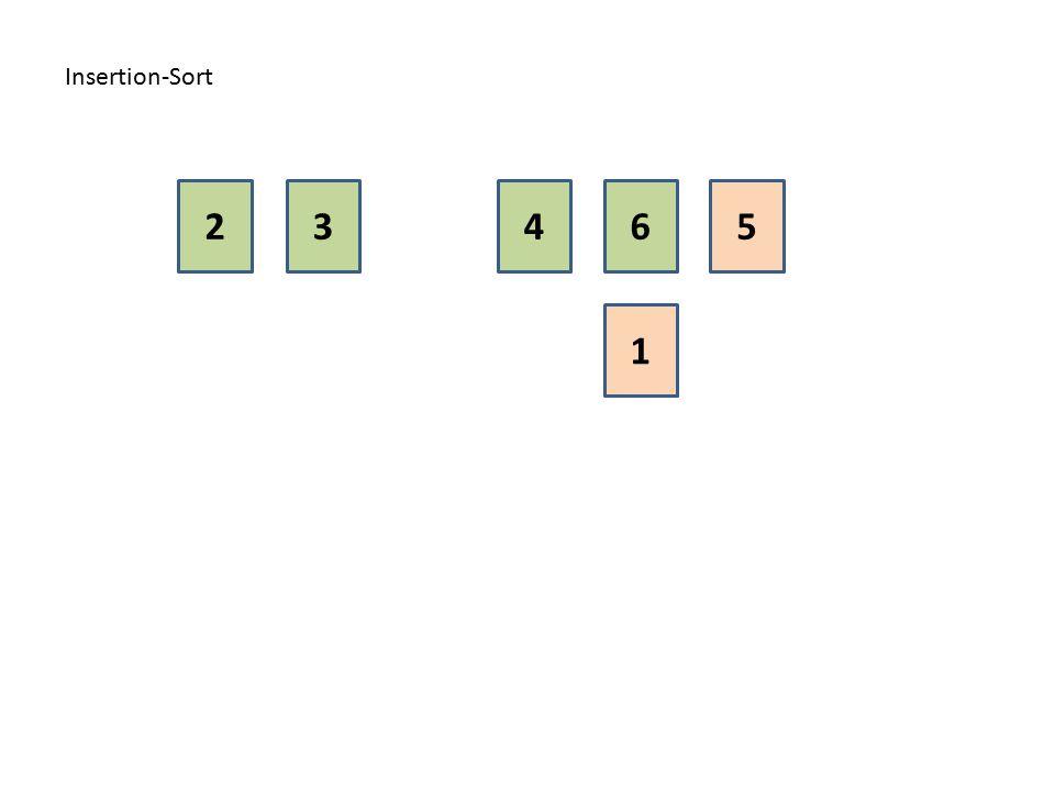 Insertion-Sort 2 3 4 6 5 1