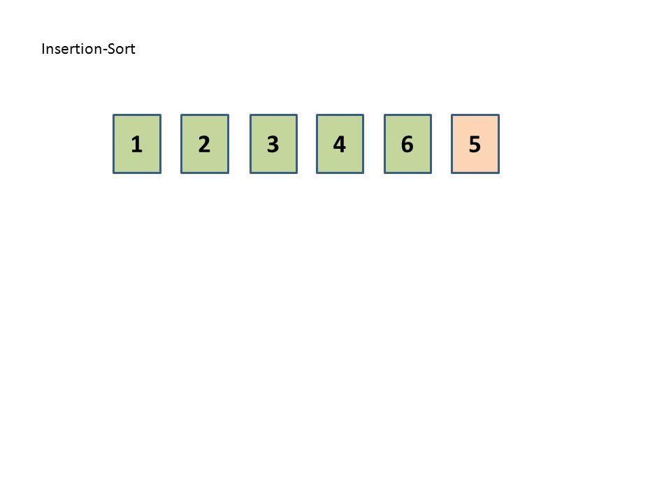 Insertion-Sort 1 2 3 4 6 5