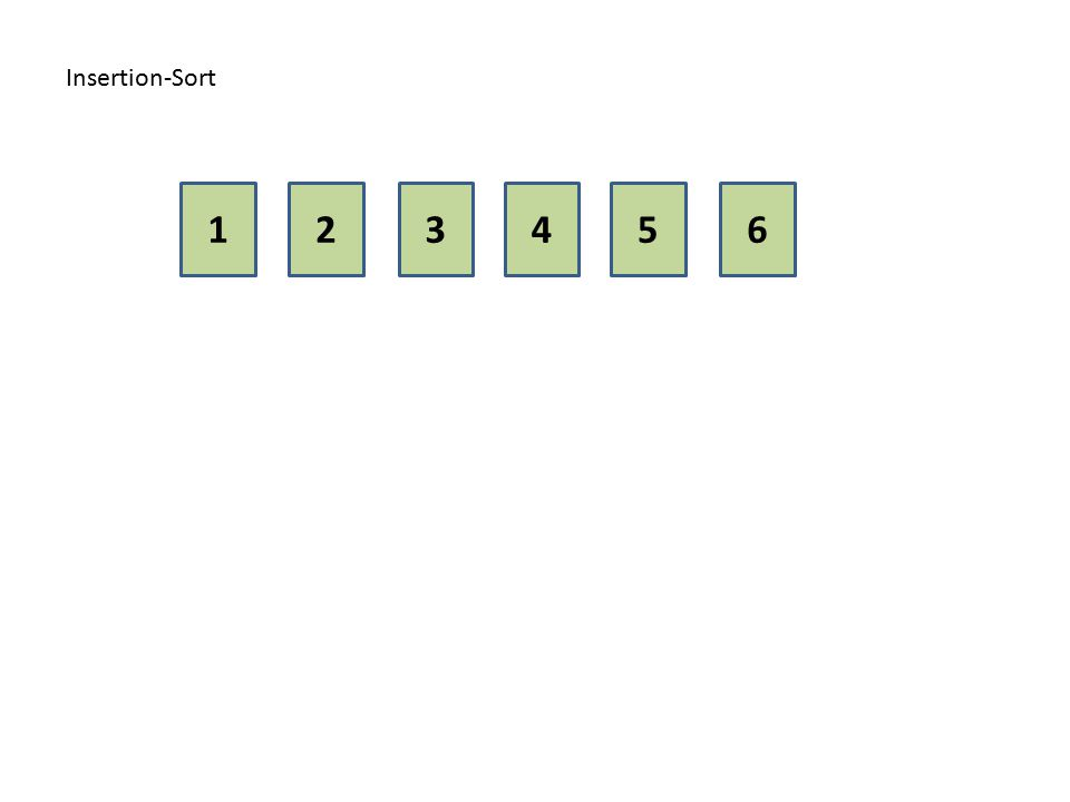 Insertion-Sort 1 2 3 4 5 6