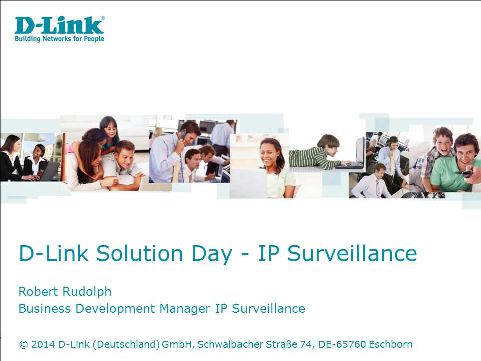 D-Link Solution Day - IP Surveillance