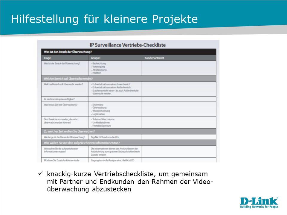Hilfestellung für kleinere Projekte