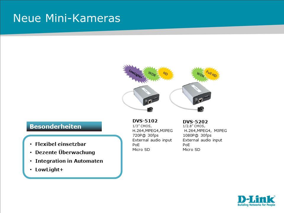 Neue Mini-Kameras Besonderheiten Flexibel einsetzbar
