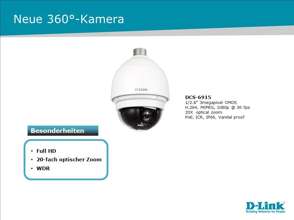 Neue 360°-Kamera Besonderheiten Full HD 20-fach optischer Zoom WDR