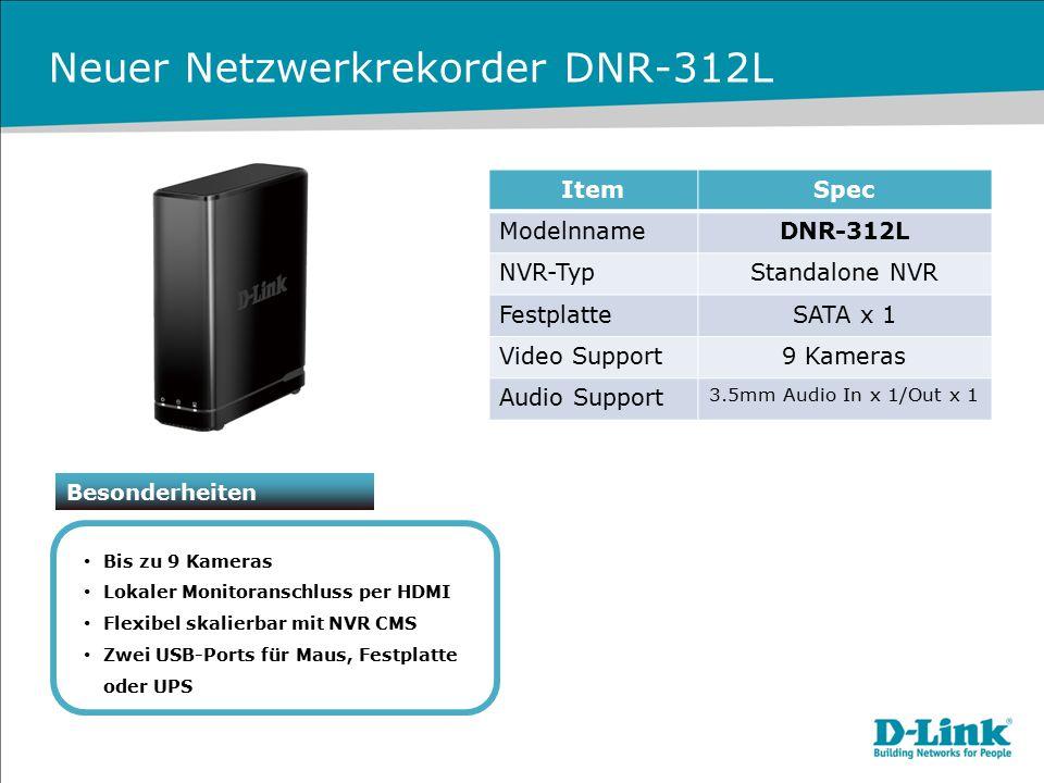Neuer Netzwerkrekorder DNR-312L