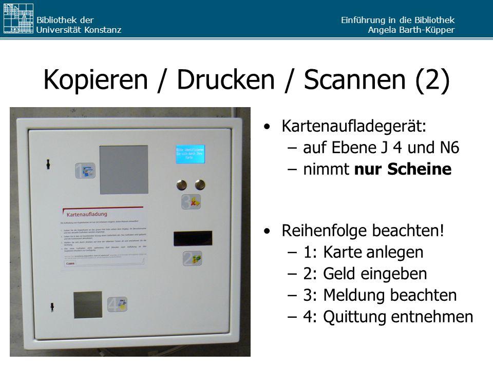 Kopieren / Drucken / Scannen (2)
