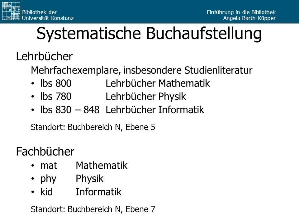 Systematische Buchaufstellung