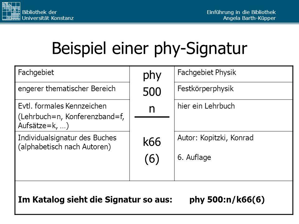 Beispiel einer phy-Signatur