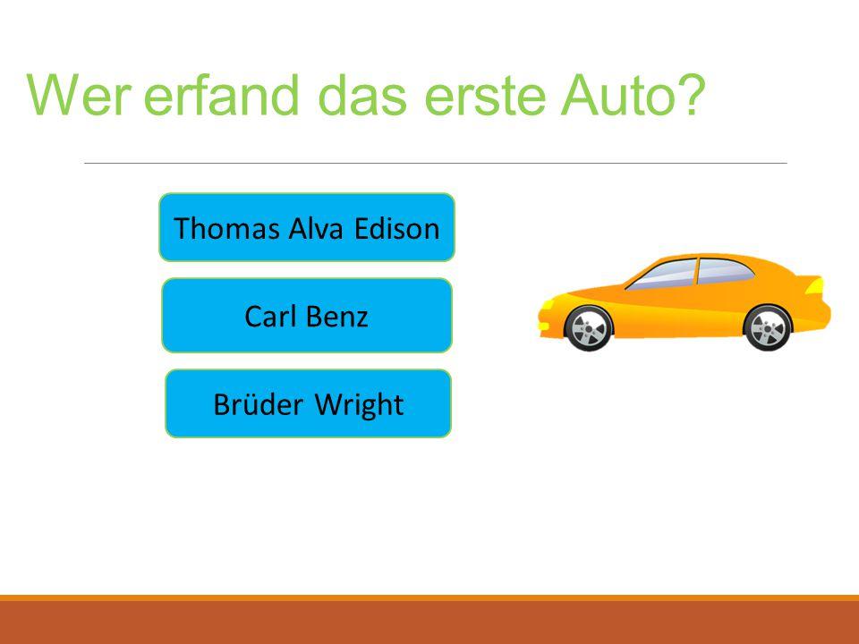 Wer erfand das erste Auto