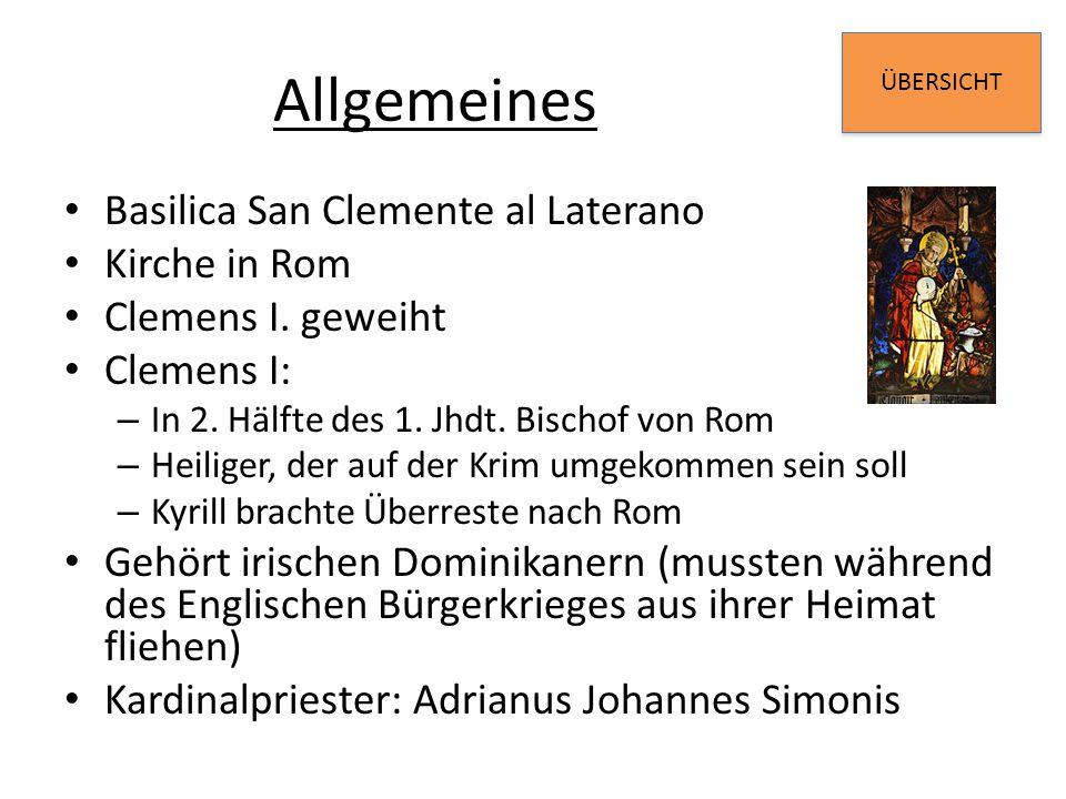 Allgemeines Basilica San Clemente al Laterano Kirche in Rom
