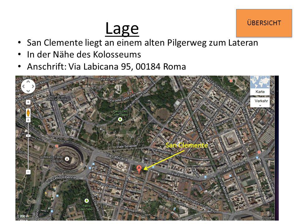 Lage San Clemente liegt an einem alten Pilgerweg zum Lateran