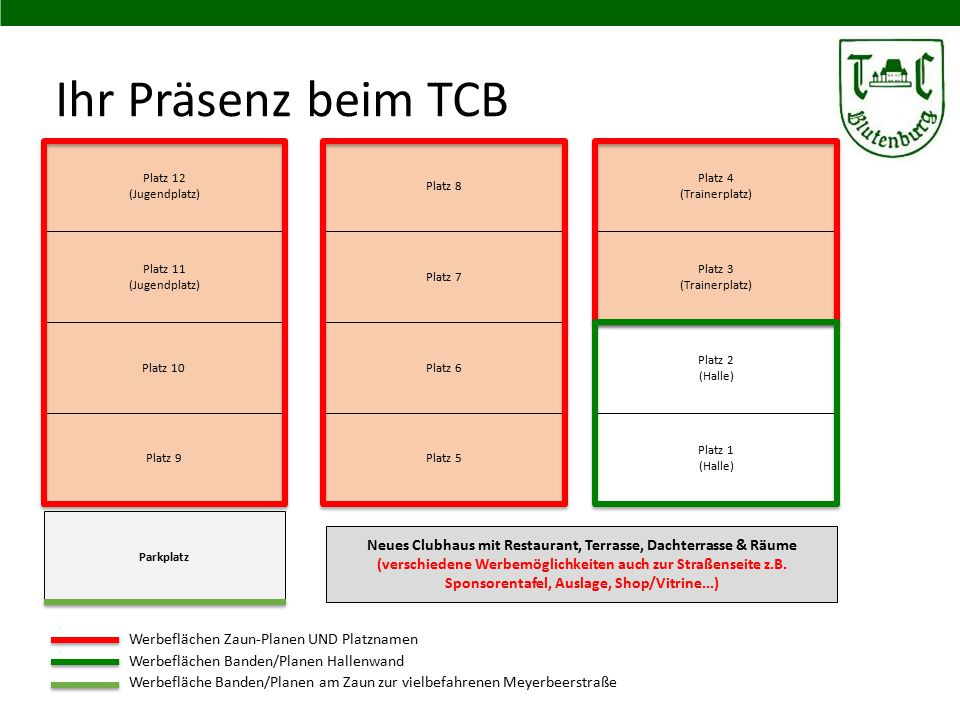 Ihr Präsenz beim TCB Platz 12 (Jugendplatz) Platz 8. Platz 4. (Trainerplatz) Platz 11 (Jugendplatz)