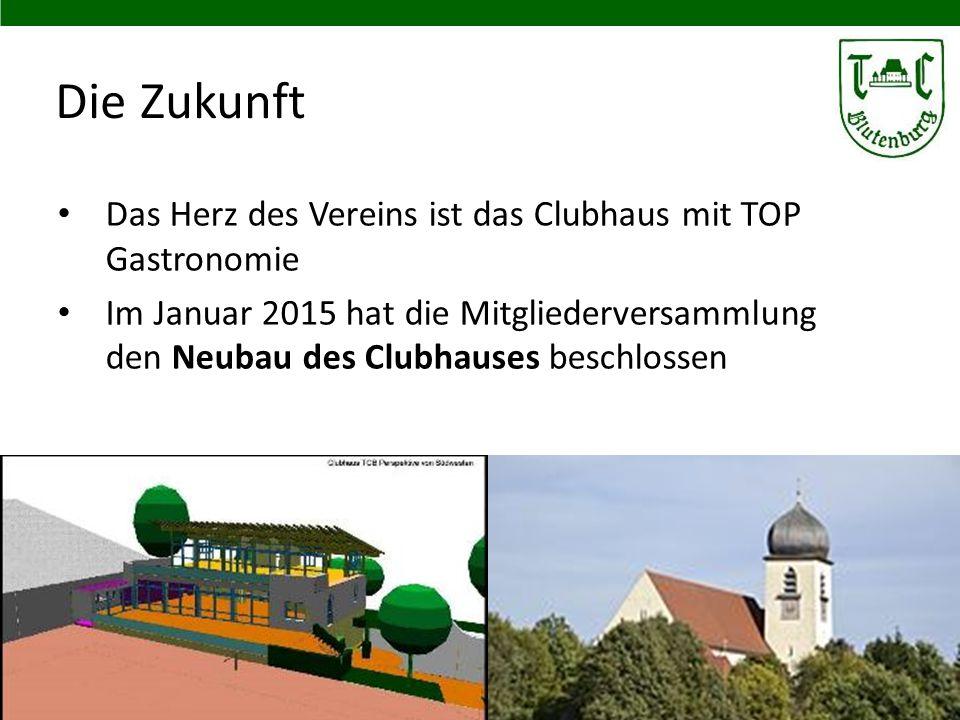 Die Zukunft Das Herz des Vereins ist das Clubhaus mit TOP Gastronomie