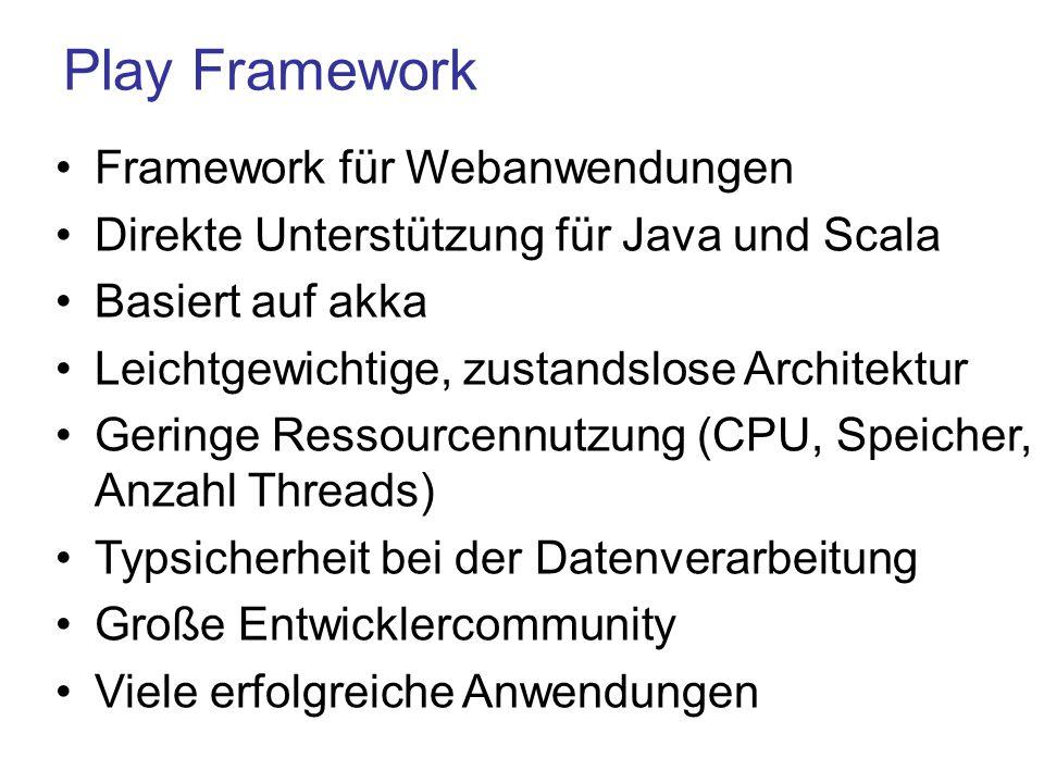 Play Framework Framework für Webanwendungen