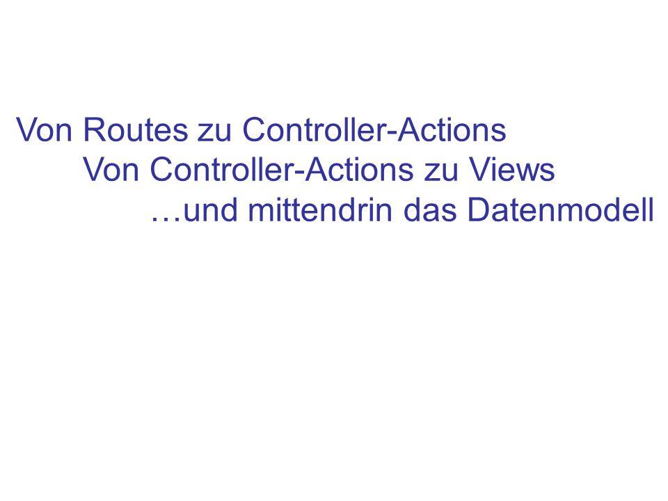 Von Routes zu Controller-Actions