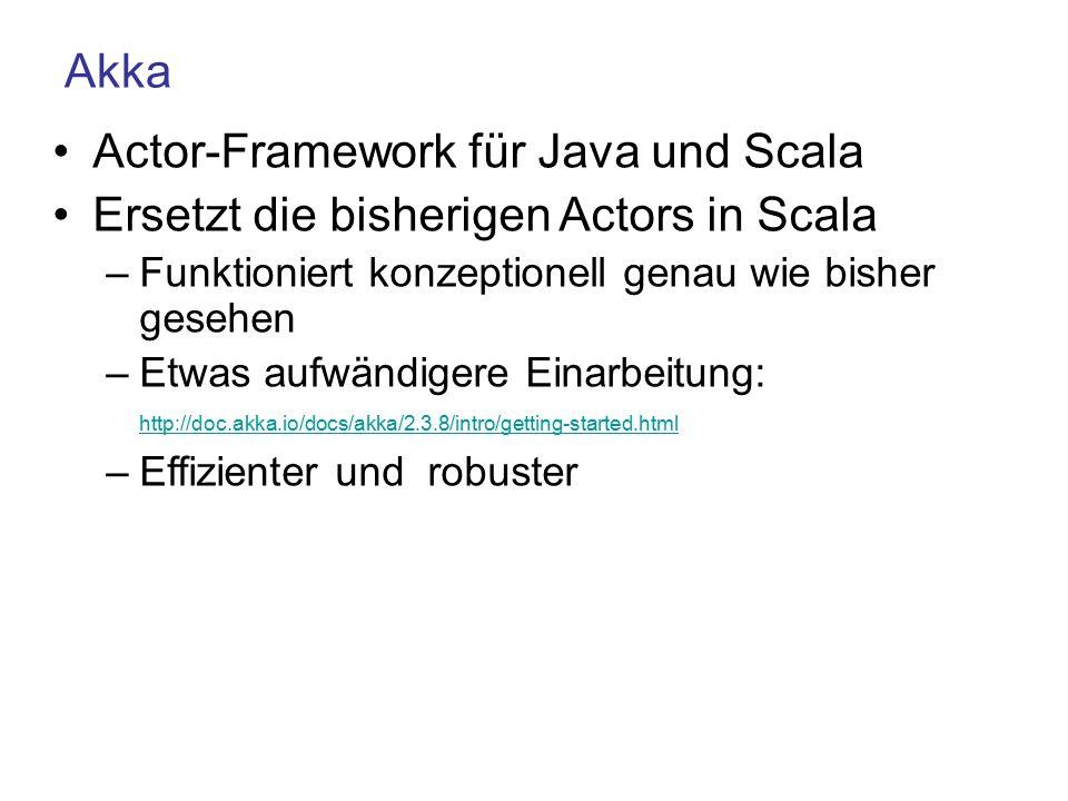 Actor-Framework für Java und Scala
