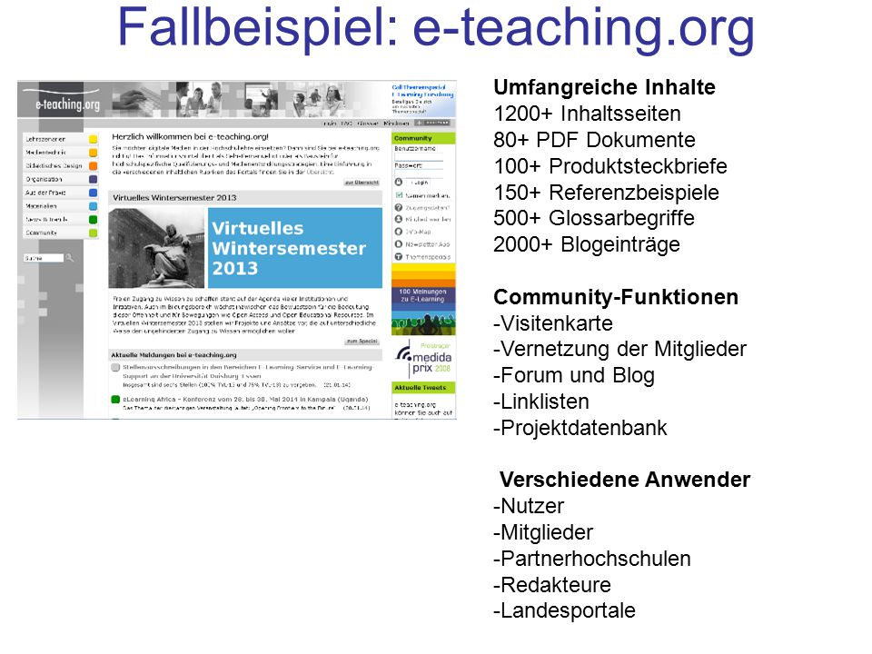 Fallbeispiel: e-teaching.org