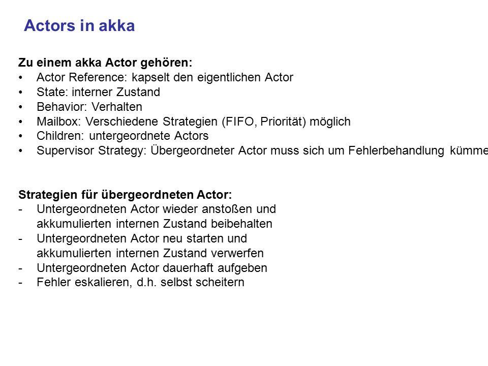 Actors in akka Zu einem akka Actor gehören:
