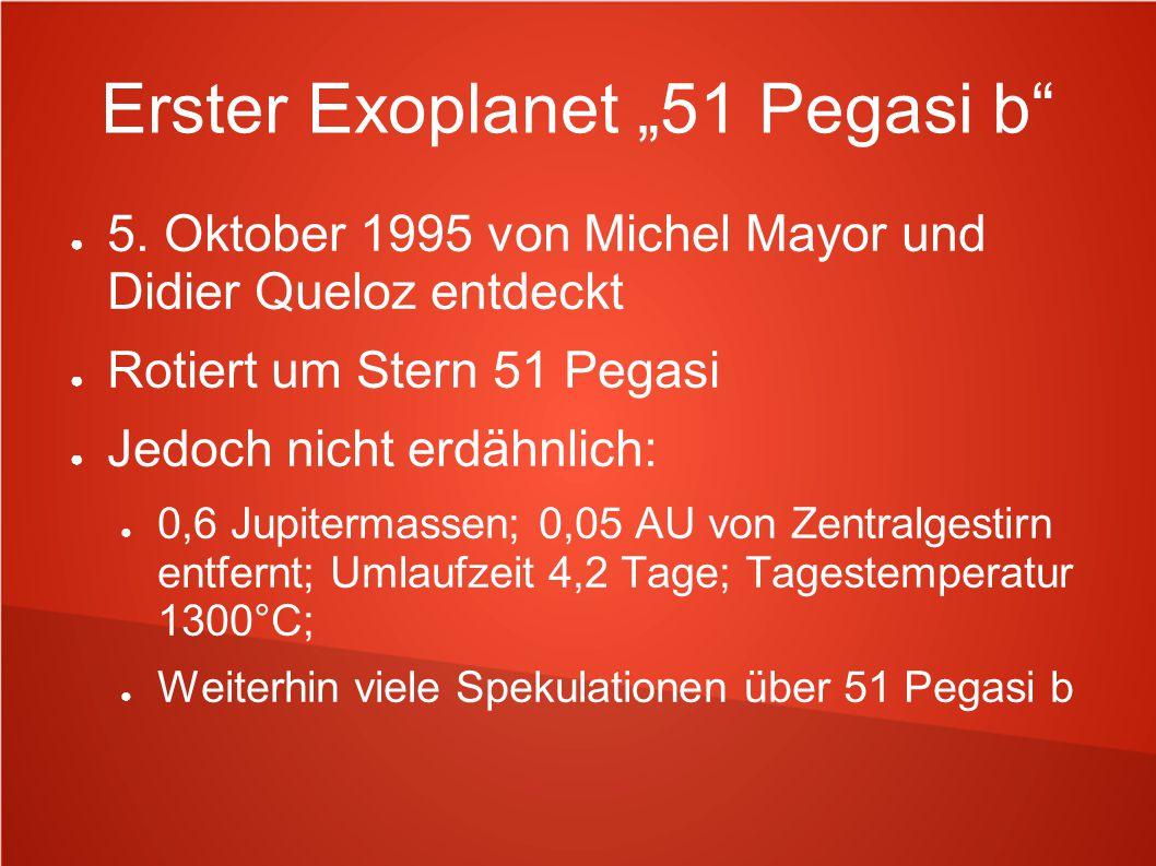 """Erster Exoplanet """"51 Pegasi b"""
