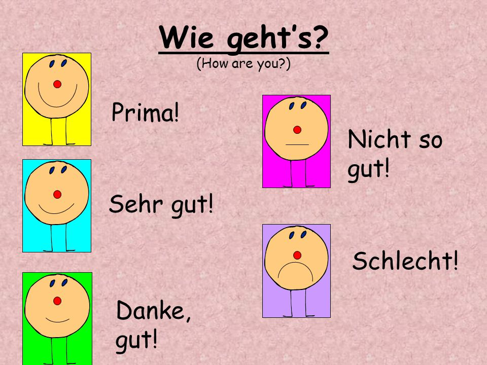 Wie geht's (How are you )