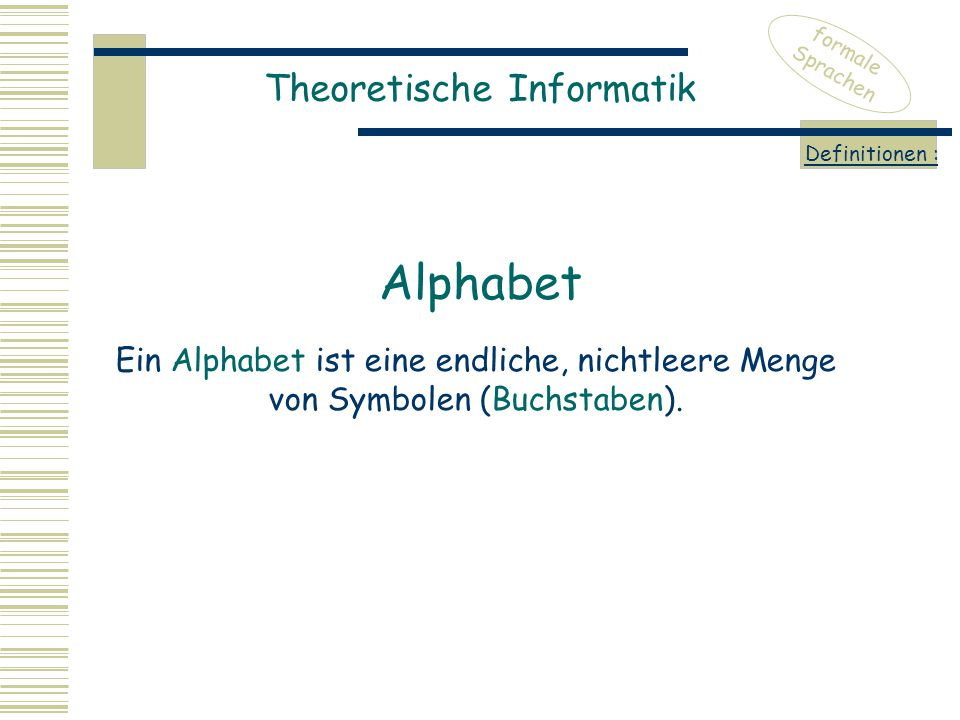 Alphabet Theoretische Informatik