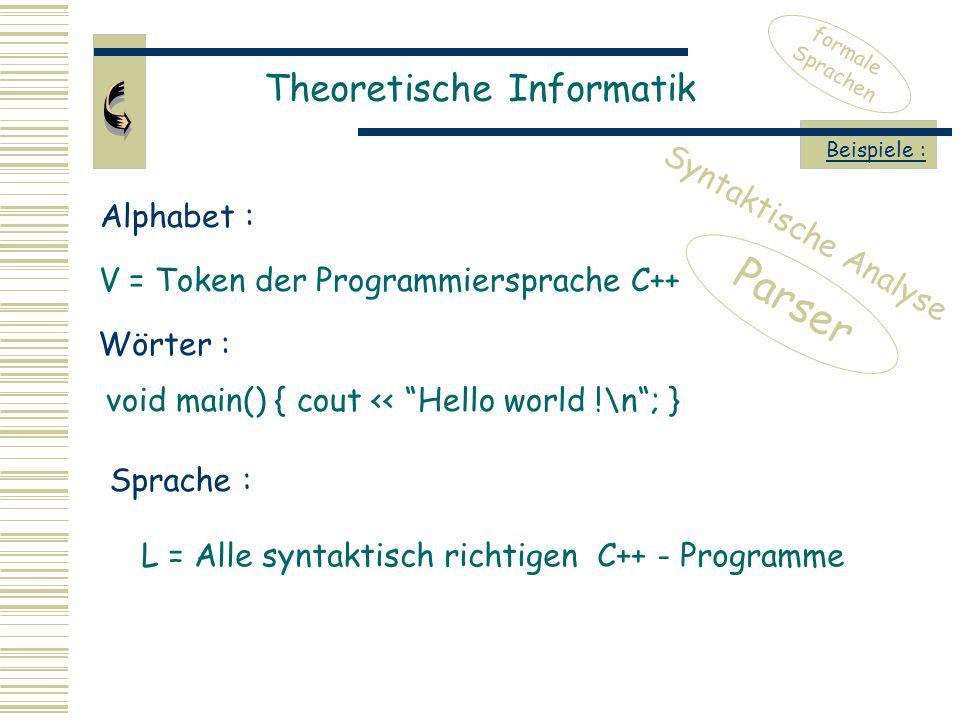 V = Token der Programmiersprache C++