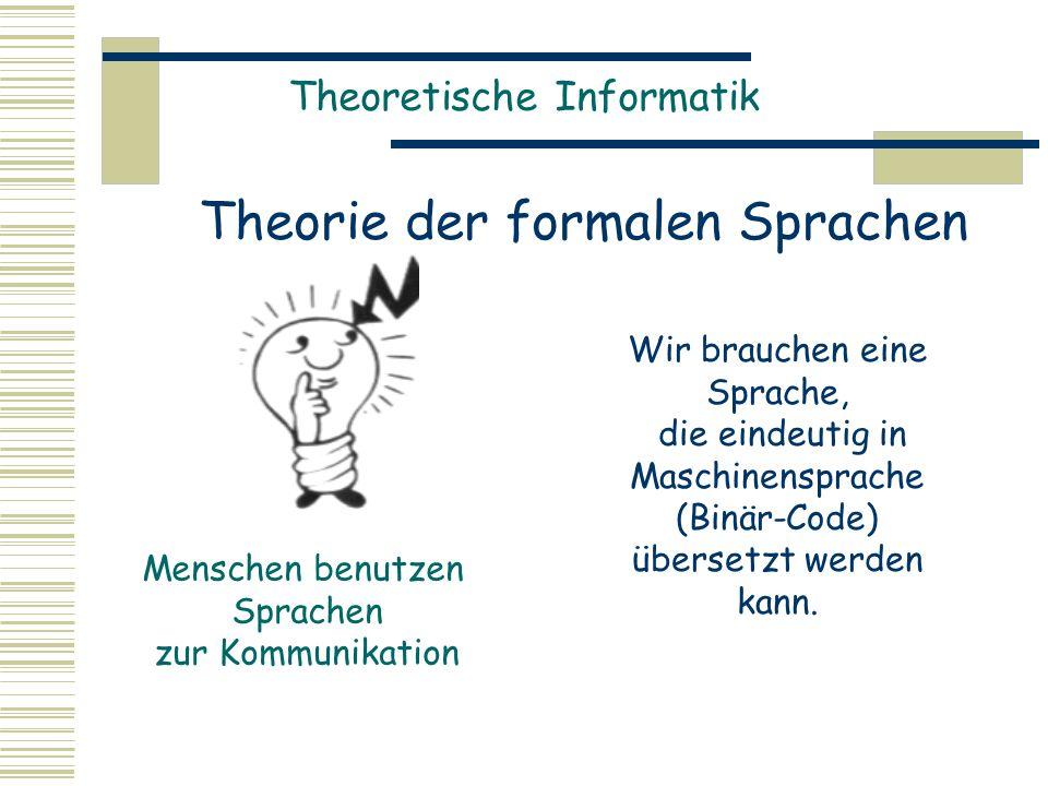 Theorie der formalen Sprachen