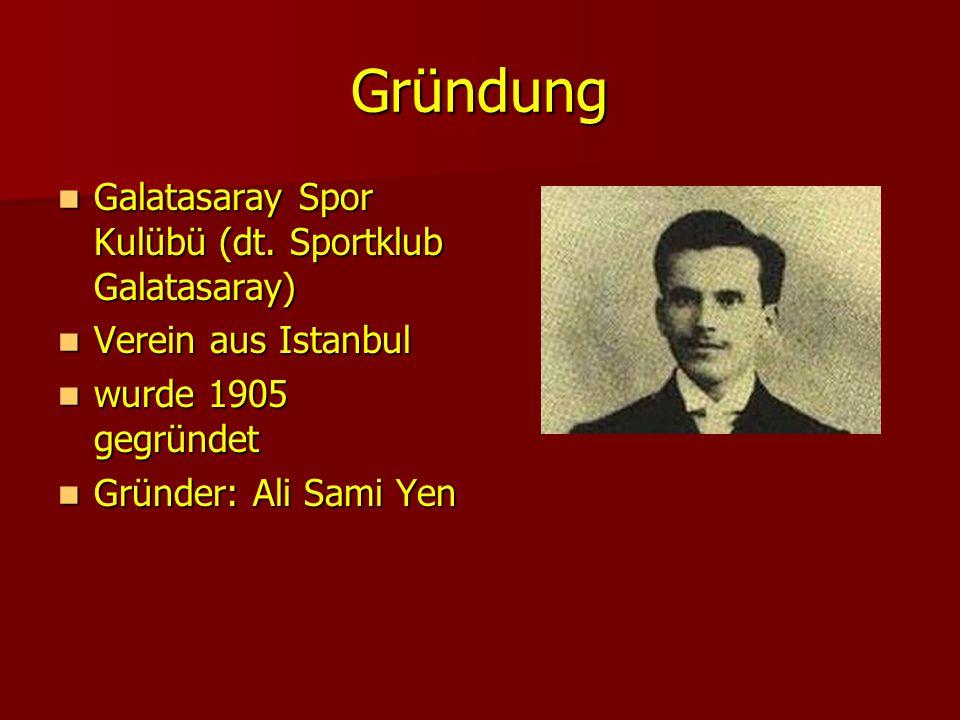 Gründung Galatasaray Spor Kulübü (dt. Sportklub Galatasaray)