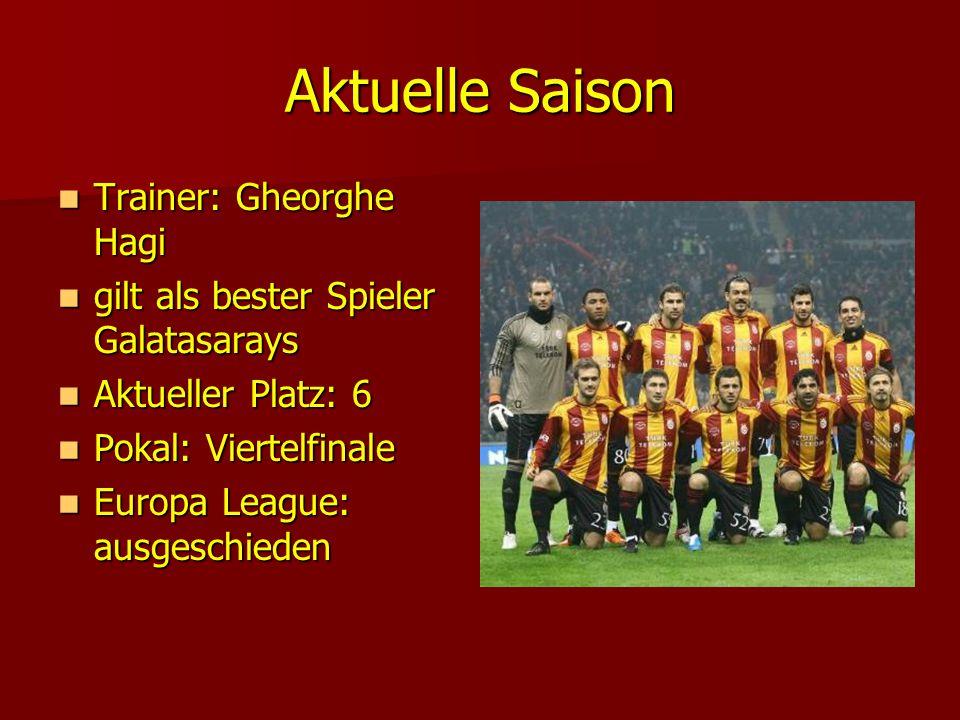 Aktuelle Saison Trainer: Gheorghe Hagi