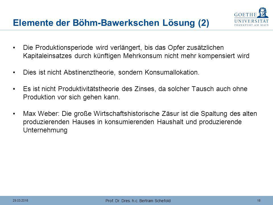 Elemente der Böhm-Bawerkschen Lösung (3)