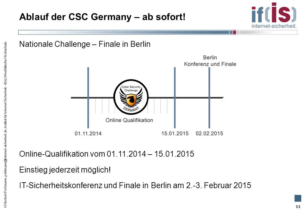 Ablauf der CSC Germany – ab sofort!