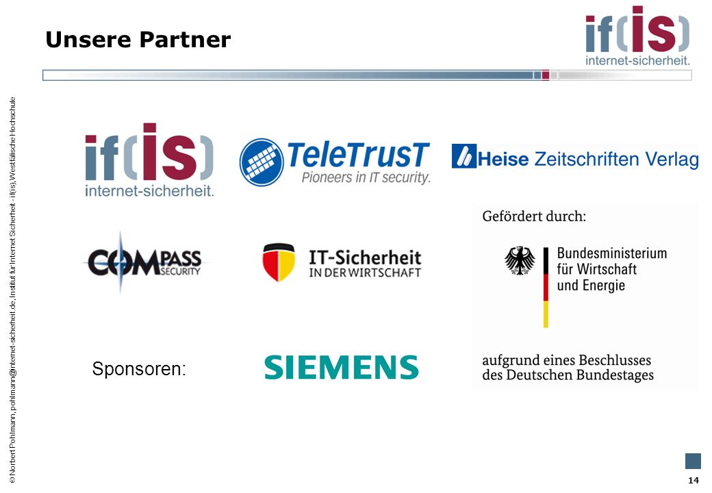 Unsere Partner Sponsoren: 14