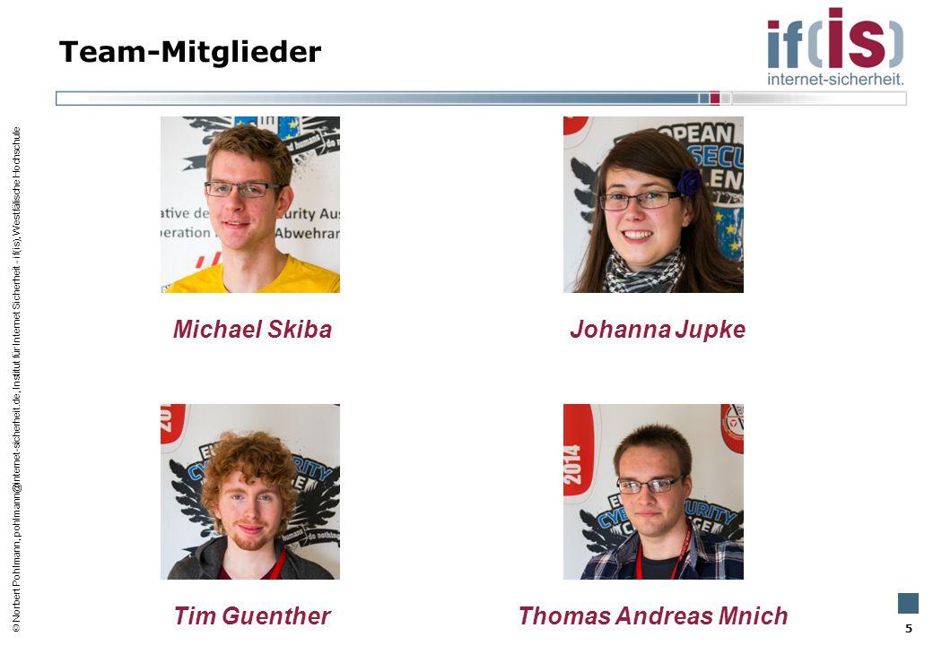 Team-Mitglieder Michael Skiba Johanna Jupke