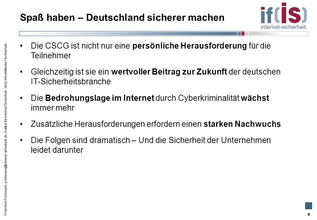 Spaß haben – Deutschland sicherer machen