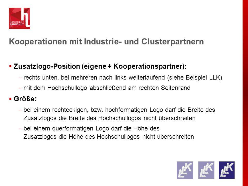 Kooperationen mit Industrie- und Clusterpartnern