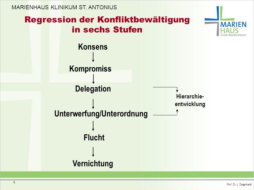 Hierarchie- entwicklung Unterwerfung/Unterordnung