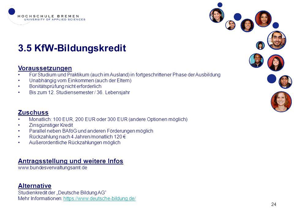 3.5 KfW-Bildungskredit Voraussetzungen Zuschuss