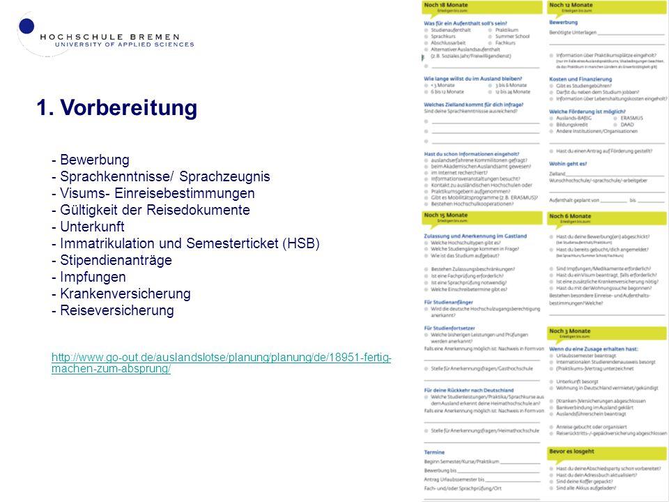 1. Vorbereitung Bewerbung Sprachkenntnisse/ Sprachzeugnis