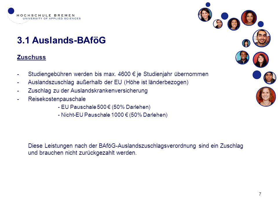 3.1 Auslands-BAföG Zuschuss