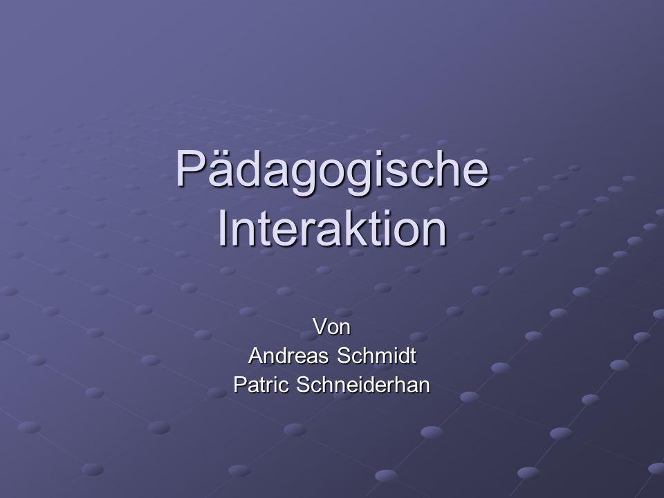 Pädagogische Interaktion