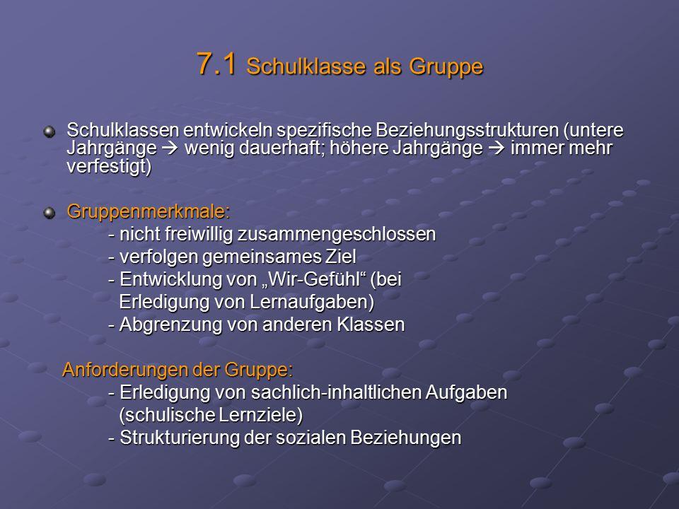 7.1 Schulklasse als Gruppe